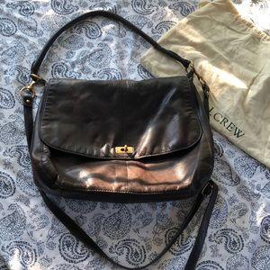 Classic J. Crew genuine leather bag